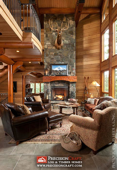 The world 39 s best photos of custommountaindesign flickr for Great american log homes