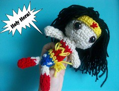 Wonder Women doll (Mooy) Tags: cute comics wonder women doll handmade crochet inspired super plush hero kawaii amigurumi mooeyandfriends
