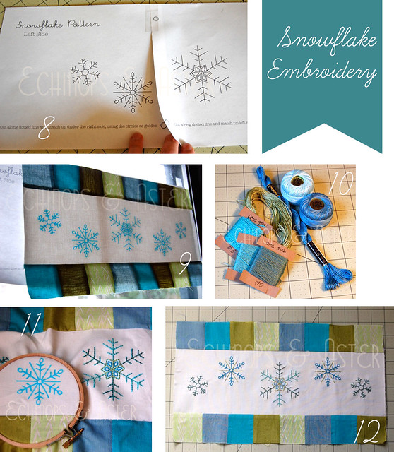 Embroidery for the Embroidered Snowflake Table Runner