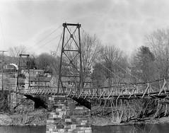 (countrymile67) Tags: bridge blackandwhite film virginia pentax k1000 va pentaxk1000 jamesriver swingingbridge