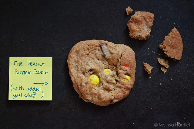 Peanut Butter Cookies with a post it note