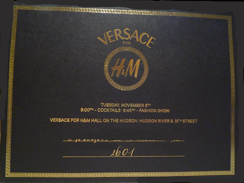 Versace invitation