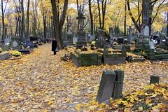 powazki cemetery 01 november 2011 (13) (kexi) Tags: november autumn cemetery graveyard yellow canon many crosses poland polska warsaw tombs warszawa 2011 powazki instantfave powazkicemetery 01nov11canon