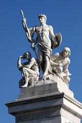 Blue and white (ejhrap) Tags: italy rome roma monument monumento victor ii marble emmanuel emanuele vittorio statute altaredellapatria nazionale ilvittoriano altarofthemotherland