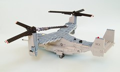 MV-22B Osprey (11) (Mad physicist) Tags: usmc lego military marines osprey v22 tiltrotor mv22b