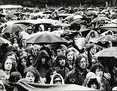 1971 vi 26 Gijsbert Hanekroot - Crowd at rainy concert in Amsterdamse Bos (blacque_jacques) Tags: music history photojournalism rockroll