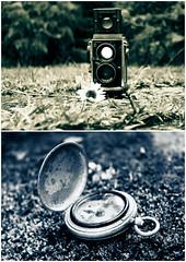 Lo hermoso de lo antiguo (B.E.M.S. mi visin del mundo a travs de un lent) Tags: mamiya canon eos dof bokeh antiguo coleccin brujula piezas 500d antiguedad bems lvm diptico monocromatico nostalgico nostaldia camarafotografica enfoqueselectivo t1i lavueltaalmundonoviembre