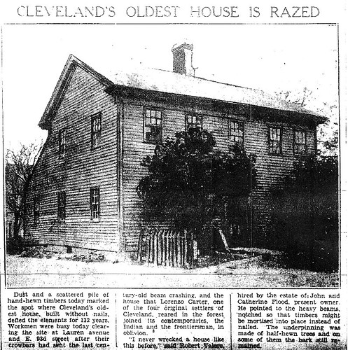 Cleveland's Oldest House is Razed