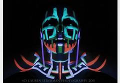 glowing head copy (laurenlederman) Tags: light black colour make up skull paint neon head uv tribal bodypaint blacklight glowing