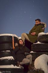 Friends (oolsvig) Tags: nightphotography portrait sky people night stars nikon tire d5100