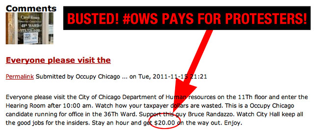 BUSTED! #OCCUPYCHICAGO PAYS PROTESTERS $20 PER HOUR!