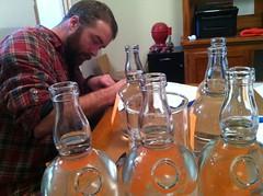 level check (cgrantham) Tags: bottle tennessee whiskey distillery moonshine shortmountain headofproduction cannoncounty joshsmotherman