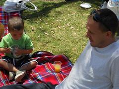 Drinks Break (mikecogh) Tags: park family party marcus drink uncle nephew blanket resting joti