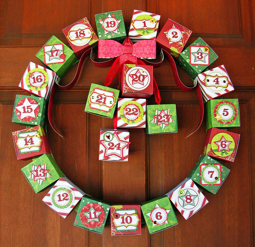 Peppermint Twist Advent Wreath