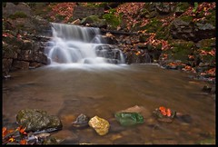 Clydach falls (Martyn.Smith. Back from Euro tour :)) Tags: longexposure autumn leaves southwales canon eos photo rocks flickr wasserfall breconbeacons filter waterfalls valley software slowshutter gorge cascade picnik waterval greenrock nd4 cachoiera 450d clydachgorge