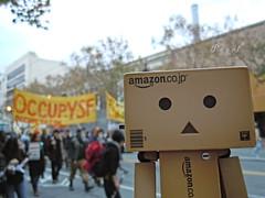 Danbo @ Occupy SF (.OhSoBoHo) Tags: sanfrancisco california march robot protest marketst danbo amazoncojp danboard amazoncardboardrobot occupysf danboatoccupysf