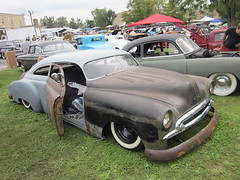 1949 Chevy Fleetline (splattergraphics) Tags: chevy chopped carshow 1949 fleetline slammed ratrod customcar suicidedoors mobtowngreaseball karbkings dundalkmd