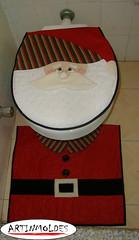 NATAL NO WC (Artinmoldes - Atelier Das Mana) Tags: natal papainoel tapete