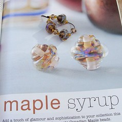 B&B December (Glittering Prize - Trudi) Tags: glass magazine beads maple published december beyond syrup ornate trudi lampwork