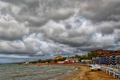 Cloudy day (grazanna) Tags: sea beach clouds nuvole mare spiaggia morze chmury plaa martinsicuro