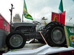 Vintage Tractor (kenjonbro) Tags: uk tractor london westminster vintage trafalgarsquare parade charingcross stpatricksday 2012 sw1 kenjonbro fujifilmfinepixhs10 fujihs10 londonirishvintageclub