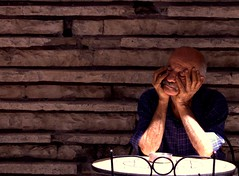 Afternoon Snooze (gamal_inphotos) Tags: old morning travel sleeping summer portrait lebanon sun man streets brick cafe nap day afternoon faces sleep bricks sunny august brickwall mustache beirut wrinkles cafes hamra 2011 dayshots westbeirut