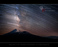 Sequence of Finite (Goldpaint Photography) Tags: mountain snow northerncalifornia night star weed glow trails shasta nightsky mountshasta startrails starrynight milkyway shastina galazy goldpaintphotography