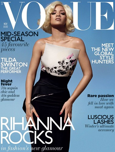 rihanna british vogue magazine november 2011