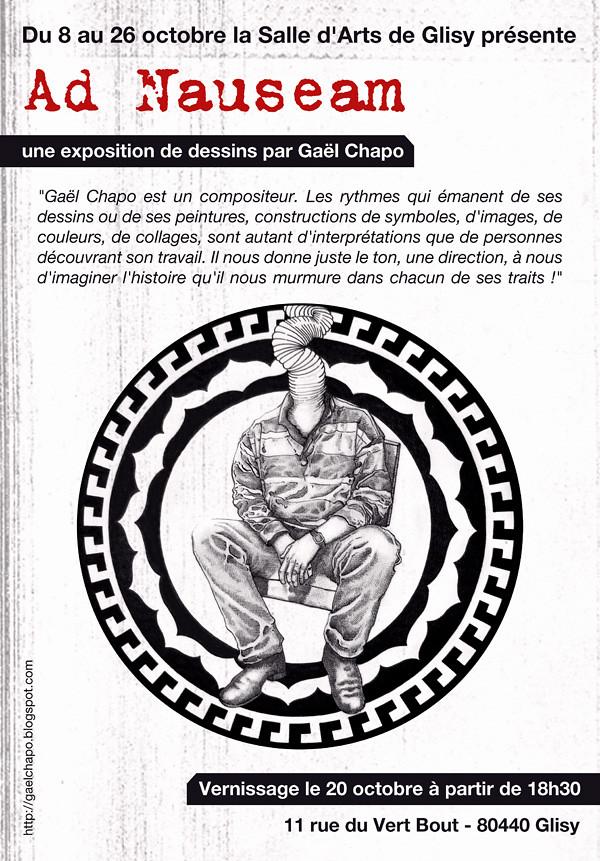 Affiche de l'exposition Ad Nauseam par Gaël Chapo