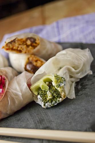 Sicilian style spring-rolls