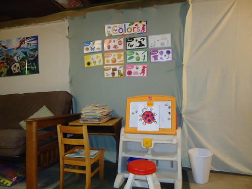 finished unfinished basement playroom