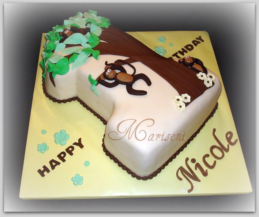 Birthday Cake - Monkeys in a Tree (Slice of Sweet Art - Custom Cakes ...