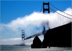 Golden Gate Bridge in Fog (West County Camera) Tags: goldengatebridge wow1 wow2 wow3 wow5 doublyniceshot doubleniceshot tripleniceshot mygearandme mygearandmepremium mygearandmebronze mygearandmesilver mygearandmegold mygearandmeplatinum mygearandmediamond ringexcellence dblringexcellence artistoftheyearlevel3 artistoftheyearlevel4 musictomyeyeslevel1 aboveandbeyondlevel1 flickrstruereflection1 flickrstruereflection2 artistoftheyearlevel5 4timesasnice aboveandbeyondlevel2 aboveandbeyondlevel3