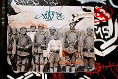 Combo (dprezat) Tags: street urban paris art collage painting stencil tag graf peinture aerosol bombe combo pochoir banania sonyalpha700 comboculturekidnapper