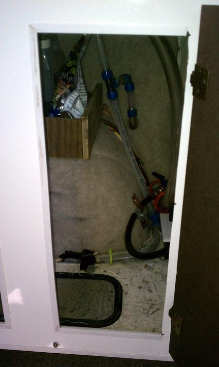 storage underneath sink