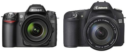 Nikon D80 vs Canon 30D