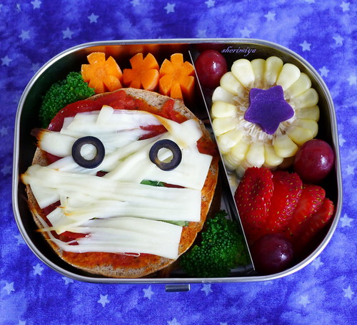 Mummy Pizza Bento by sherimiya ♥