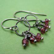 Delicate Pink Tourmaline Earrings