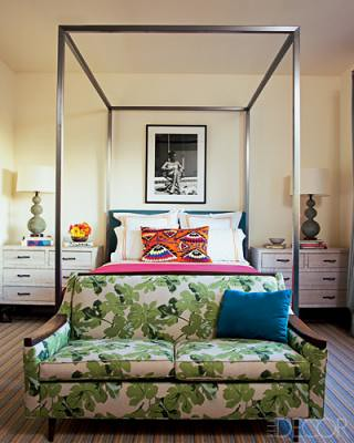 Bedroom w/ Sofa / Elle Decor