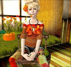 ...NuDoLu sweater for the Seasons Hunt ... (lindini2) Tags: hair pumpkin necklace sweater chair sl secondlife bp bf skybox boon sprig headpiece nudolu theseasonshunt
