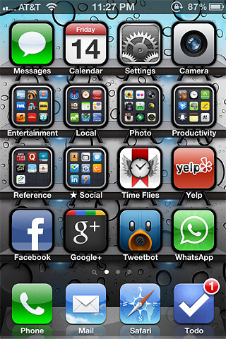 iPhone 4S Home Screen