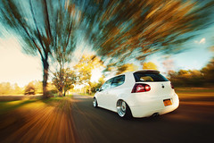 Jason Morabito - GTI (Ronaldo.S) Tags: autumn white motion fall leaves vw candy air automotive rig gti rs bbs mkv d700 rotiform