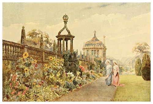 019-Girasoles en Montacute-Some English gardens 1904- George S. Elgood