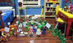 Occupy Andy's Room (Pepa Quin) Tags: lego toystory buzzlightyear woody andysroom occupy occupywallstreet