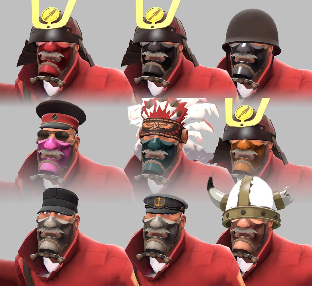 Tf2 soldier cosmetics quotes - For The Soldier This Time The Second To The Kabuto On The Top Row Is The Default Color That Almost Matches The Kabuto S Metal I May Need Help There From