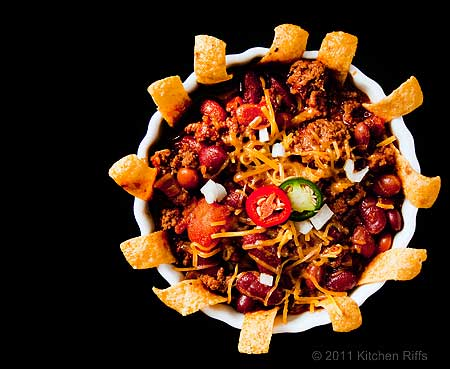 Frito Pie - Chili with Fritos and Melted Cheese