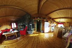 Inside Norwegian Cottage (Espen Faugstad) Tags: wood old travel blue roof winter summer vacation sky dog white house mountain lake snow building green tourism home window nature water beautiful beauty grass norway rock rural forest landscape living wooden log cabin estate view floor outdoor interior room country north cottage scenic norwegian hut domestic fjord inside scandinavia