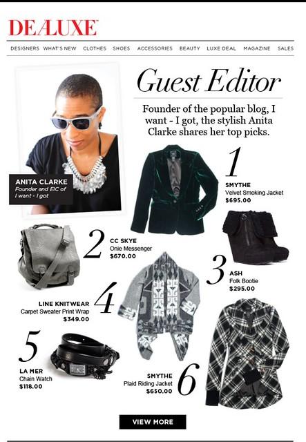 Dealuxe Guest Editor - October 19, 2011