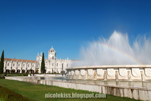 rainbow at Lisboa jeronimos