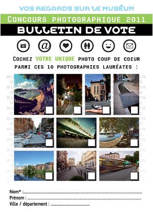 Bulletin de vote : concours photos 2011